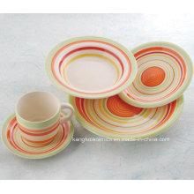 Conjunto de cena de cerámica con prueba FDA resistente al calor