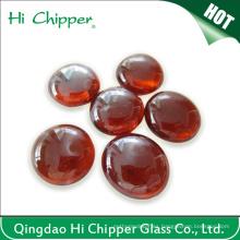 Perlas de cristal de la pera del fuego del plano trasero ambarino