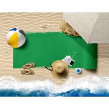 Personalised Absorbent Pure Colour Printing Gym Micro Fabric Towel Custom Beach Towel Printing Microfiber Towel