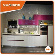 Aisen muebles de alta calidad gabinete de cocina barata para el apartamento