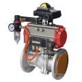 Acero inoxidable válvula de bola con actuador neumático fabricante