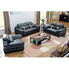Sofá de sala de sofá, sofá de couro genuíno, de combinação (M221)