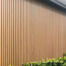 WPC Fluted Louver Composite Wood Co-Extrusion Capped Wall Exterior Panel House Outdoor Decoration Material Wall Cladding Board