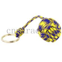 """Roxo e amarelo camo 1 """"aço defesa bola macaco punho qualquer tamanho bola e cor oem ok"""
