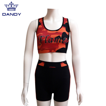 Flame Cheerleading Übungsoutfits