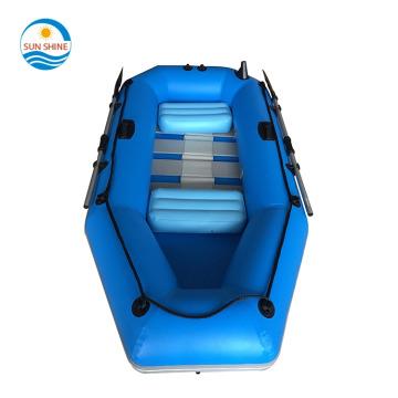 barco balsa dobrável resistente ao desgaste barco de pesca para 2 pessoas