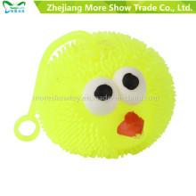 Ilumina el juguete de plástico de bolas de pájaro de pico plástico suave
