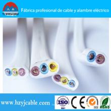 Shanghai Port 300 / 500V 3 Core Elektrische Draht Flachkabel