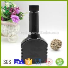 2016 novos produtos garrafa de plástico de óleo de motor preto preto de alta qualidade 300ml com tampa de rosca