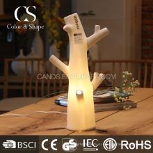 Арт-белое дерево форма керамическая настольная лампа для дома