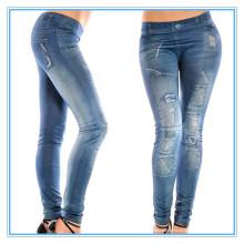 Primavera e verão novo estilo impressão alta leggings elásticas