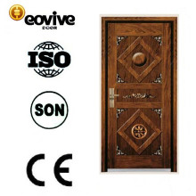 Acero de alta calidad MDF madera puerta blindada superficial