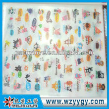 Etiqueta de PVC personalizada, pegatinas nuevas de promoción