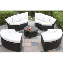 Meubles de jardin osier rotin extérieur Patio Sofa Set chaise longue