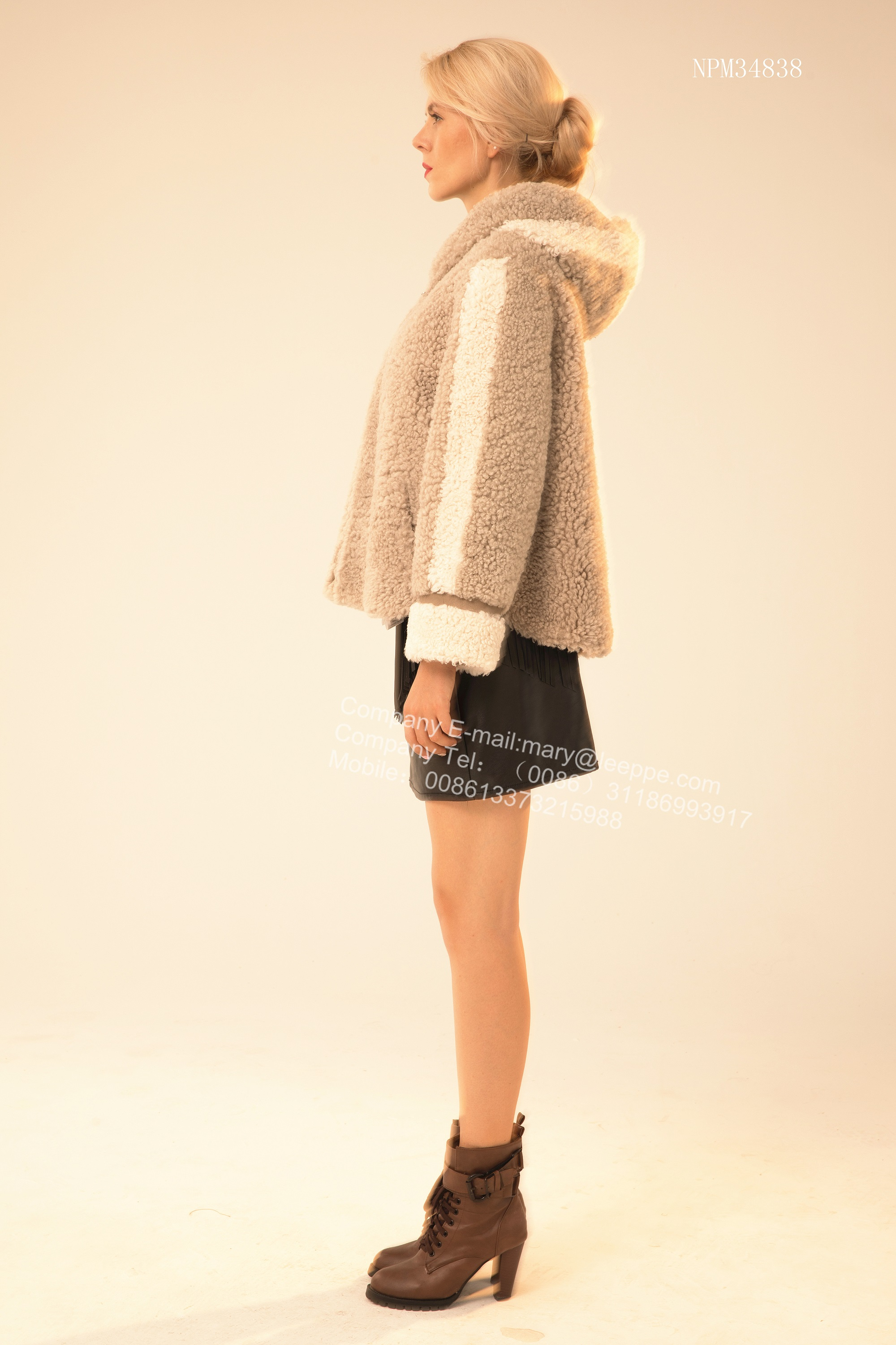 Short Winter Women Fur Jacket