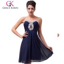 Grace Karin Sexy New Knee Length Chiffon Bridesmaid Dresses CL6035