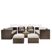 Hot sale outdoor sofa set rattan wicker furniture for garden