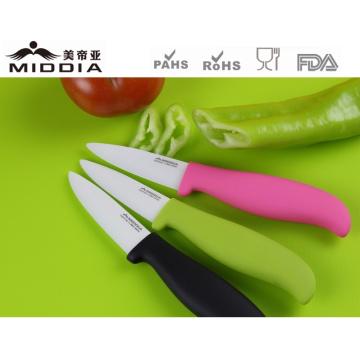 Antibacteriano fruta Paring facas em 3 polegadas