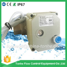 "Dn25 1"" NSF61 2 Wire DC12V 24V with Manual Override Ss304 Motorized Electric Water Ball Valve"