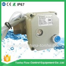 """Dn25 1 """"NSF61 2 fios DC12V 24V com substituição manual Ss304 Válvula de bola elétrica motorizada elétrica"""