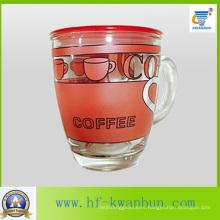 Nice Decal Glass Cup Mug for Coffee & Tea