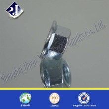 Tuerca de brida hexagonal con zinc azul