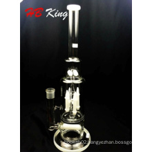 Special Design Rocket Inline Percolate Water Glass Pipe: