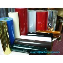 Вакуум образуется золото и серебристый металлик ПВХ пленка для лотков