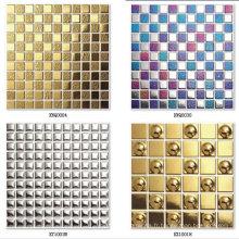 Tuile en mosaïque en or à six hexagones