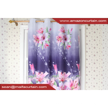 China Manufacturer 2016 Beautiful 3d printing Blackout curtain window for living room