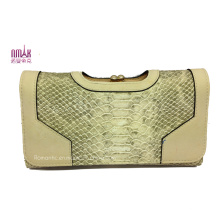 New Style Snake Print Multi Carder Holder Tarifold Cowhide Money Purse (W32)