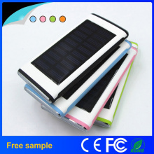 Grade a Lithium Polymer Battery 12000mAh Super Thin Solar Power Bank