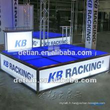 Plate-forme mise en place rapide, plancher augmenté pour l'exposition, étape portative de plate-forme de verre pour le salon commercial