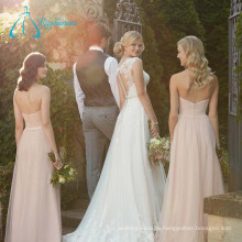Tulle Satin Sashes Button A-Line Plus Size Wedding Dress