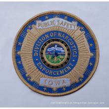Emblemas tecidos da segurança feita sob encomenda do remendo do bordado (GZHY-PATCH-007)