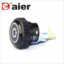 Daier power symbol plastic waterproof push button switch
