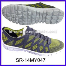 SR-14MY047 los zapatos hechos punto de los nuevos hombres del knit del diseño de la manera calzan los zapatos de los deportes