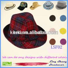2015 Factory Price Cotton designer hats Fedora vintage cap fedora headwear wholesale ,LSF02