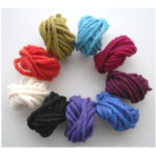 Lã / acrílico misturou o fio extravagante para fazer malha o tapete grosso