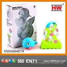 Jogo engraçado do jogo do banho do bebê Brinquedos plásticos do golfinho