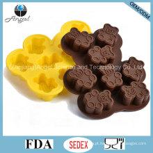Atacado Bear Shape Silicone Mold para Chocolate Baking Tool Si23