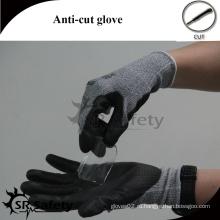 SRSAFETY зеленые латексные покрытые промышленные режущие перчатки
