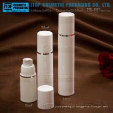 ZB-QC série 15ml 30ml 50ml bomba forte primavera rodada cosméticos de garrafa de plástico bomba airless PP