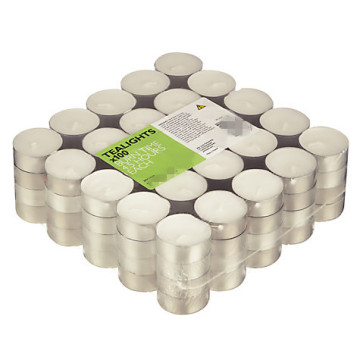 Oil Burning Aluminium Cups White Tealights Candle