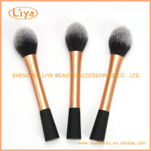 Top quality round powder brush with gold ferrule