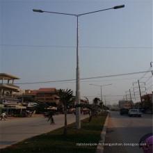 Poteau d'éclairage de rue 9 m avec certificat CE ISO