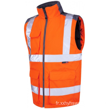 Bodywarmer orange ignifuge