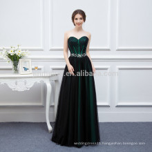 Elegant Sweetheart Backless Lace Tulle Prom Dresses Long 2016 New Arrival Crystals Evening Gowns Fiesta Fashion Dresses