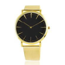 Relógio de pulseira de malha de quartzo resistente à água