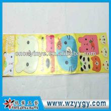 Etiquetas de encargo del coche para niños, etiquetas engomadas cobrables plástico promocionales